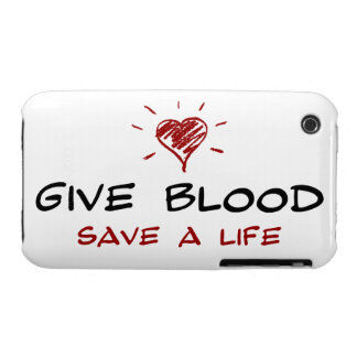 Dé a reserva de la sangre a la vida iPhone 3 cárcasa