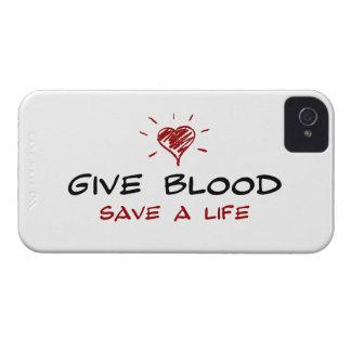 Dé a reserva de la sangre a la vida iPhone 4 protector