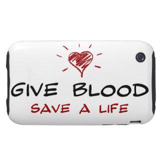 Dé a reserva de la sangre a la vida tough iPhone 3 cobertura
