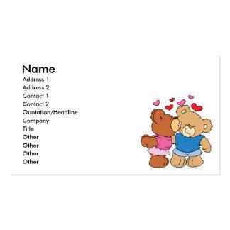 dé a tarjeta del día de San Valentín del beso del Tarjetas De Visita