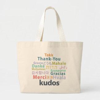 De agradecimiento de Kudos® Bolsa De Tela Grande