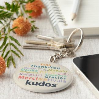 De agradecimiento de Kudos® Llavero Redondo Tipo Pin