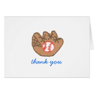 De agradecimiento del béisbol tarjeta pequeña