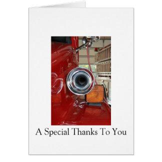 De agradecimiento del bombero tarjeta de felicitación