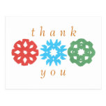 De agradecimiento del trío del copo de nieve del tarjetas postales