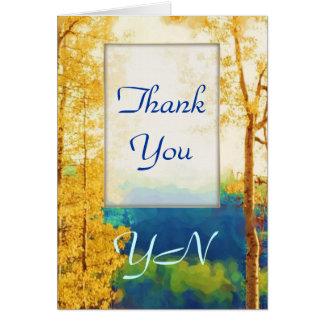 De agradecimiento descolorado de los álamos tarjeta de felicitación