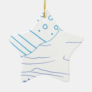 De aguas adorno navideño de cerámica en forma de estrella