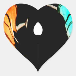 De Akuna Matata del regalo colores asombrosos Pegatina En Forma De Corazón