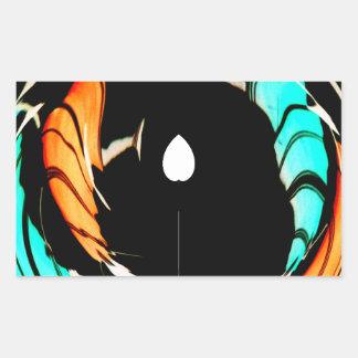 De Akuna Matata del regalo colores asombrosos Pegatina Rectangular