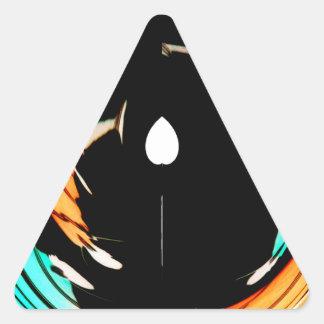 De Akuna Matata del regalo colores asombrosos Pegatina Triangular