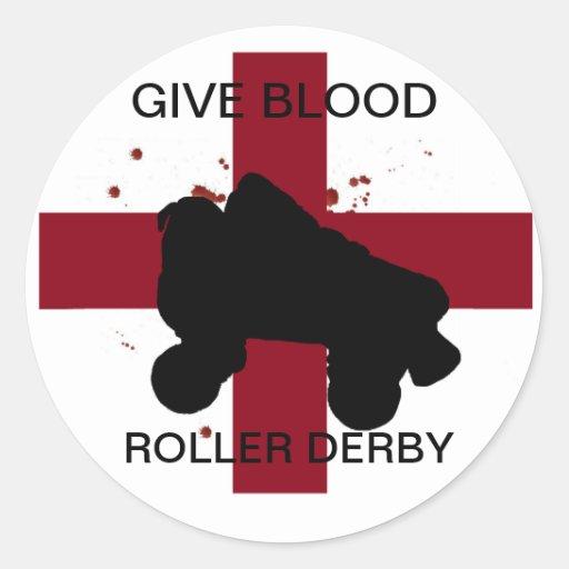Dé al PEGATINA de Derby del rodillo de la sangre
