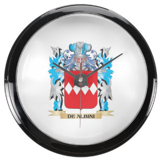 De-Albini Coat of Arms - Family Crest Aquarium Clocks