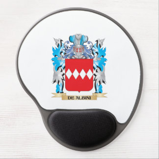 De-Albini Coat of Arms - Family Crest Gel Mouse Pad