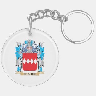 De-Albini Coat of Arms - Family Crest Double-Sided Round Acrylic Keychain