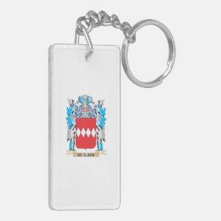 De-Albini Coat of Arms - Family Crest Double-Sided Rectangular Acrylic Keychain