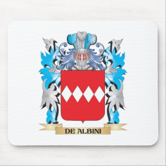 De-Albini Coat of Arms - Family Crest Mouse Pad