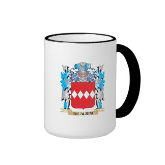 De-Albini Coat of Arms - Family Crest Ringer Coffee Mug