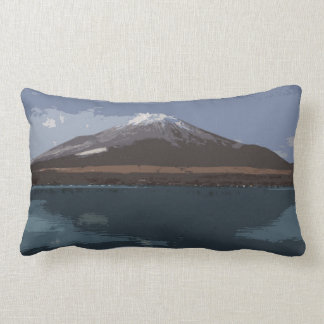 "De ""almohada Fuji Yama abstracto"" - Cojín Lumbar"