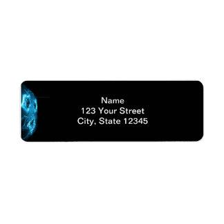 De alta tecnología azul abstracto moderno etiqueta de remitente