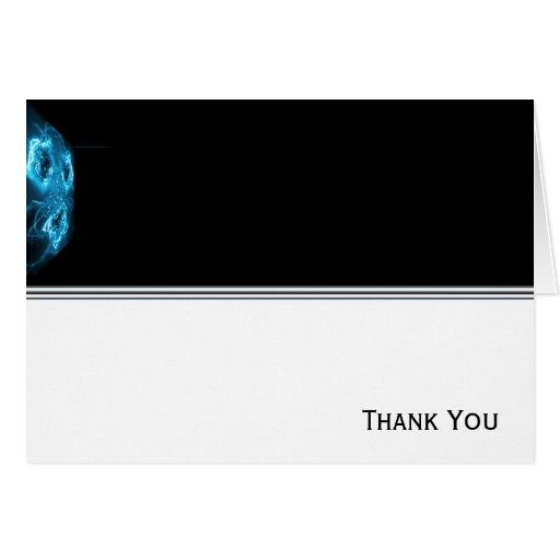 De alta tecnología azul abstracto moderno felicitacion