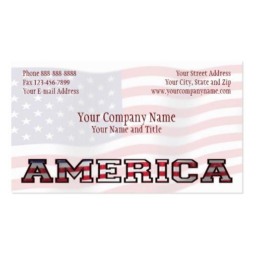 De América del gobierno negocio patriótico del Tarjetas De Visita