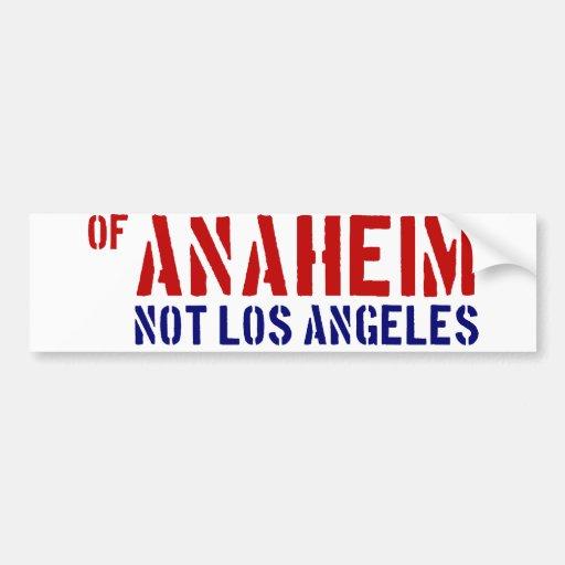 De Anaheim (no Los Ángeles) - muestre su orgullo Pegatina Para Auto