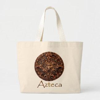 ~ de AZTECA maya - diseño azteca del arte del Bolsa De Tela Grande