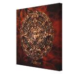 ~ de AZTECA maya - impresión azteca del arte del c Impresión De Lienzo