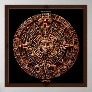 de AZTECA maya - impresión azteca del arte del c Poster