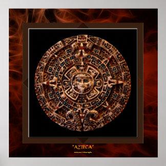 de AZTECA maya - impresión azteca LGE del arte d Posters