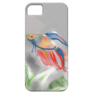 De azul a los pescados rojos de Betta Funda Para iPhone SE/5/5s