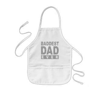 De Baddest del papá gris nunca - Delantal Infantil
