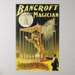 ~ de Bancroft el acto mágico del vintage del mago Posters