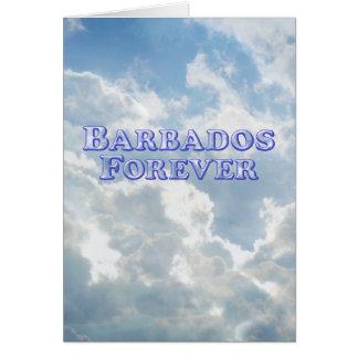 De Barbados básico biselado para siempre - Tarjeta De Felicitación