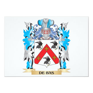 """De-Bas escudo de armas - escudo de la familia Invitación 5"""" X 7"""""""