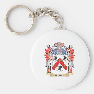 De-Bas escudo de armas - escudo de la familia Llavero Redondo Tipo Pin