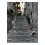 ~ de Bellagio, Italia encima de las escaleras Tarjeta Postal