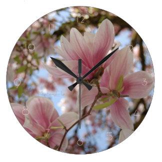 """""""de bellezas rosas"""" by mysteryella reloj redondo grande"""