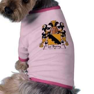 de Berry Family Crest Pet T-shirt