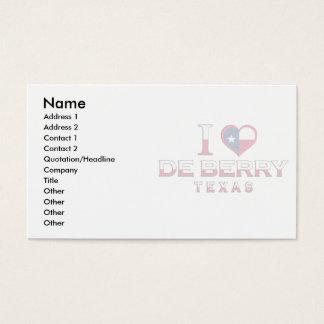 De Berry, Texas Business Card