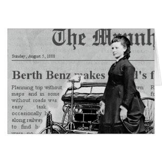 De Bertha del Benz del conductor viaje auto de Tarjeta Pequeña