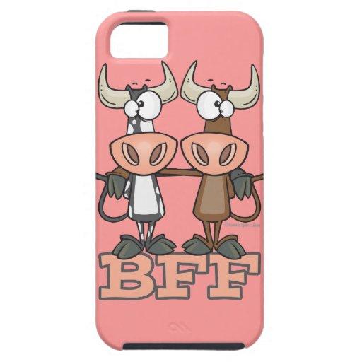 De BFF de la vaca de los mejores amigos compinches iPhone 5 Carcasas