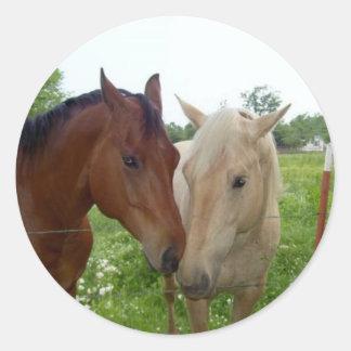 De BFF de los mejores amigos caballos para siempre Etiquetas Redondas