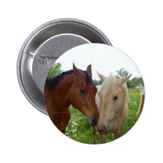 De BFF de los mejores amigos caballos para siempre Pin Redondo 5 Cm