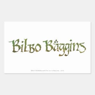 ™ de BILBO BAGGINS texturizado Rectangular Pegatinas
