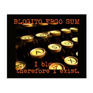 ¡De Blogito suma ergo! Tarjeta Postal