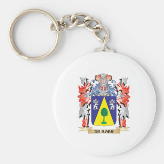 De-Boer Coat of Arms - Family Crest Keychain