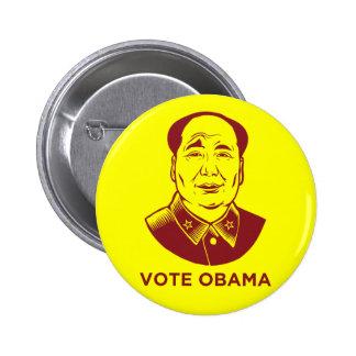 "De ""botón Obama del voto"" de Mao Pin Redondo De 2 Pulgadas"