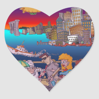 De Brooklyn con amor Pegatina En Forma De Corazón