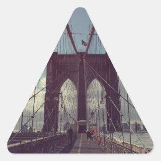 De Brooklyn con amor Pegatina Triangular
